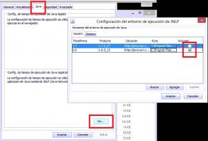 2-Dejamos únicamente activado Java 16 para el programa de Tráfico y 17 para las Tasas