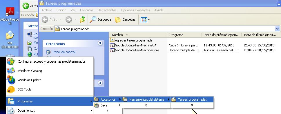 3b-tareas a borrar en XP
