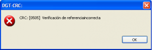 Error 0505